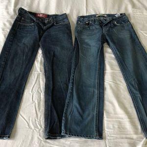 2 pair of size 12 boys Levi jeans